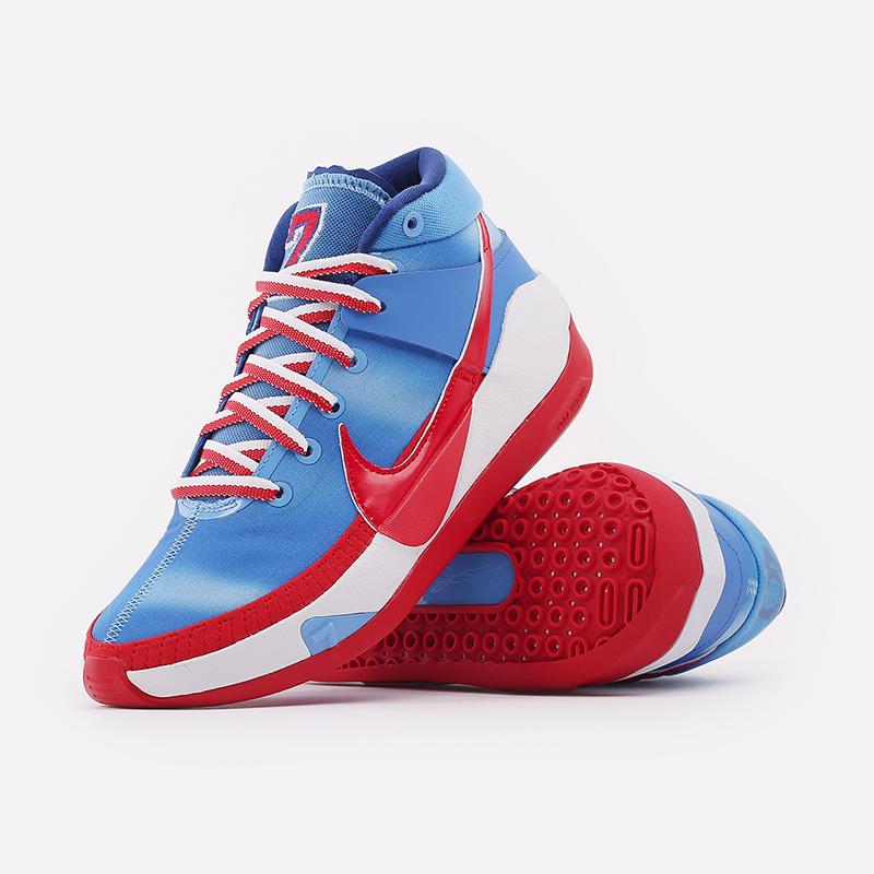 синие, красные, белые  кроссовки nike kd13 DC0009-400 - цена, описание, фото 3