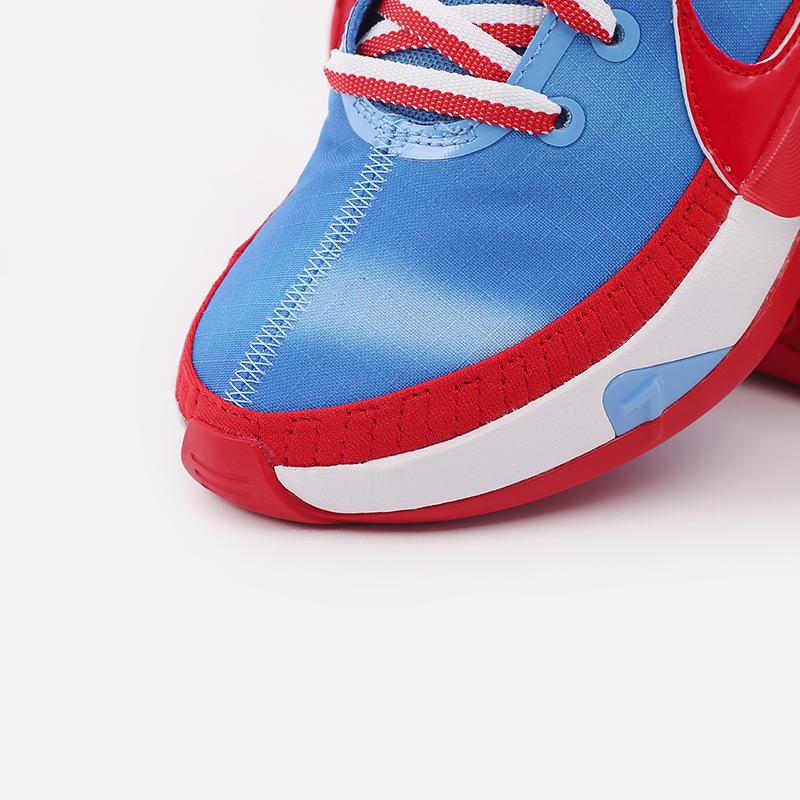 синие, красные, белые  кроссовки nike kd13 DC0009-400 - цена, описание, фото 4