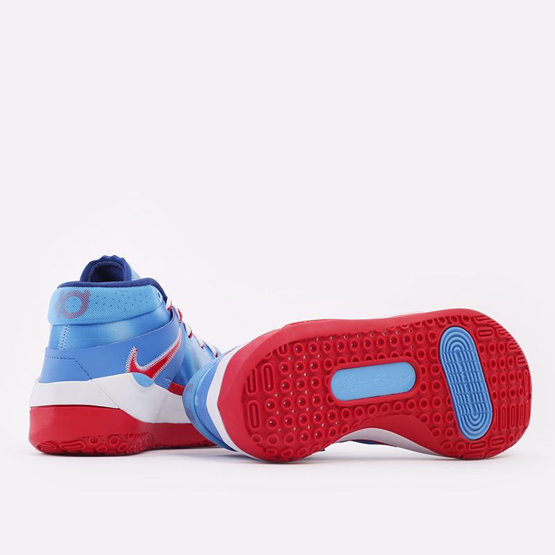синие, красные, белые  кроссовки nike kd13 DC0009-400 - цена, описание, фото 5