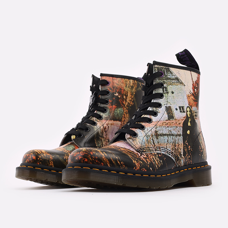 бежевые  ботинки dr. martens 1460 x black sabbath 26315102 - цена, описание, фото 2
