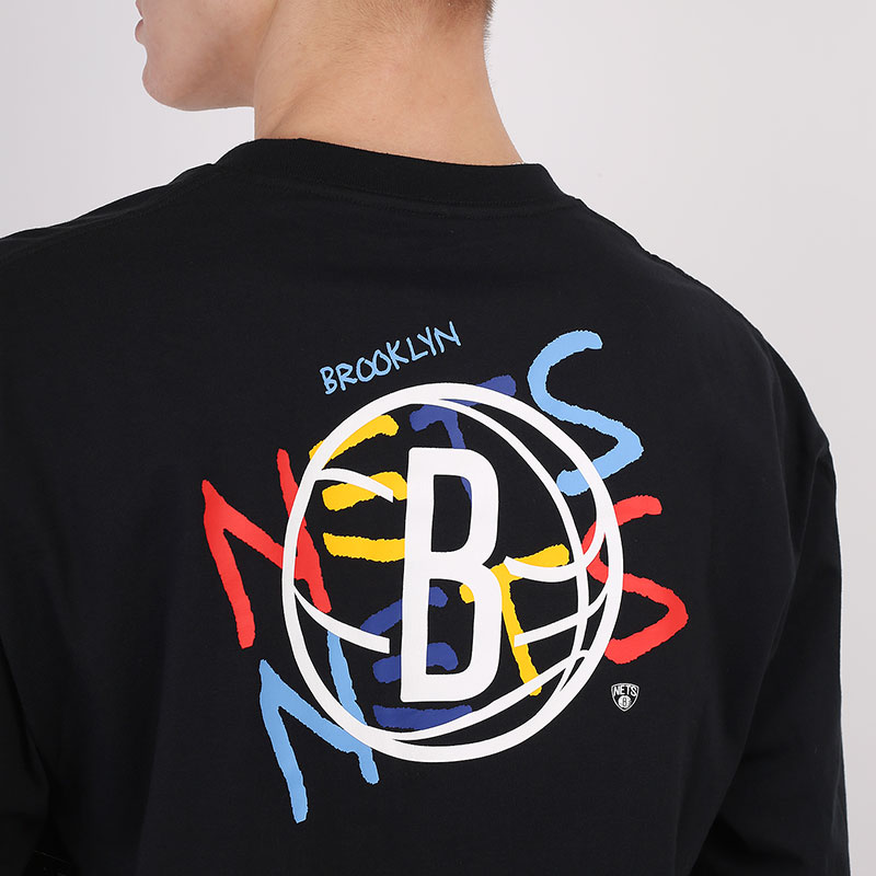мужской черный  лонгслив nike brooklyn nets city edition long sleeve CT9397-010 - цена, описание, фото 5