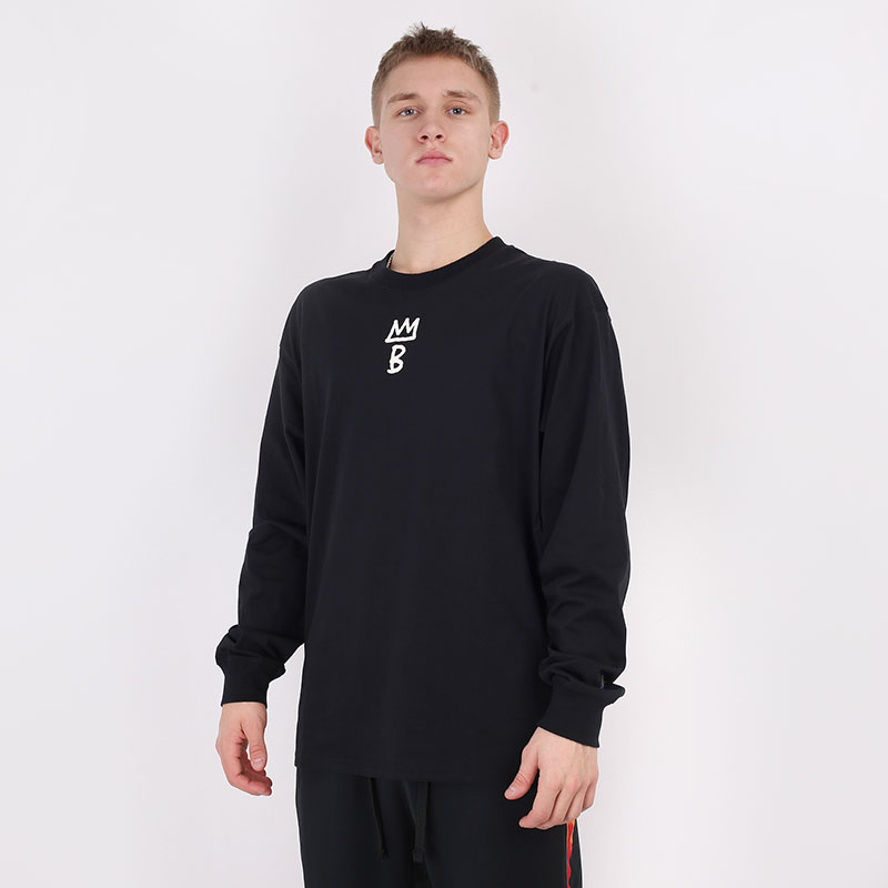 мужской черный  лонгслив nike brooklyn nets city edition long sleeve CT9397-010 - цена, описание, фото 1