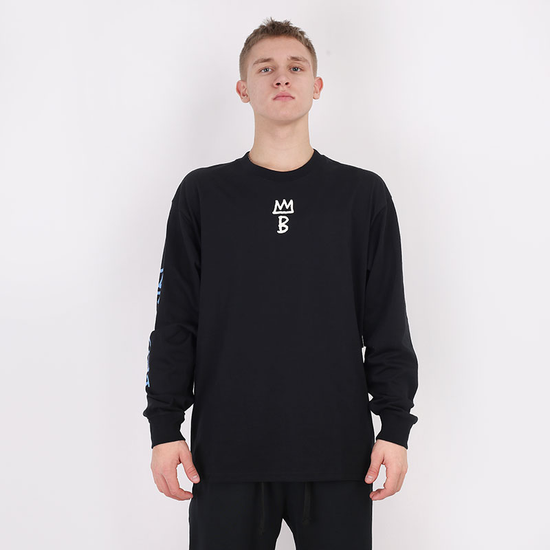 мужской черный  лонгслив nike brooklyn nets city edition long sleeve CT9397-010 - цена, описание, фото 3