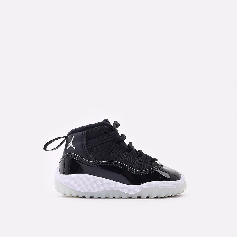 детские черные кроссовки Jordan 11 Retro (TD) 378040-011 - цена, описание, фото 1