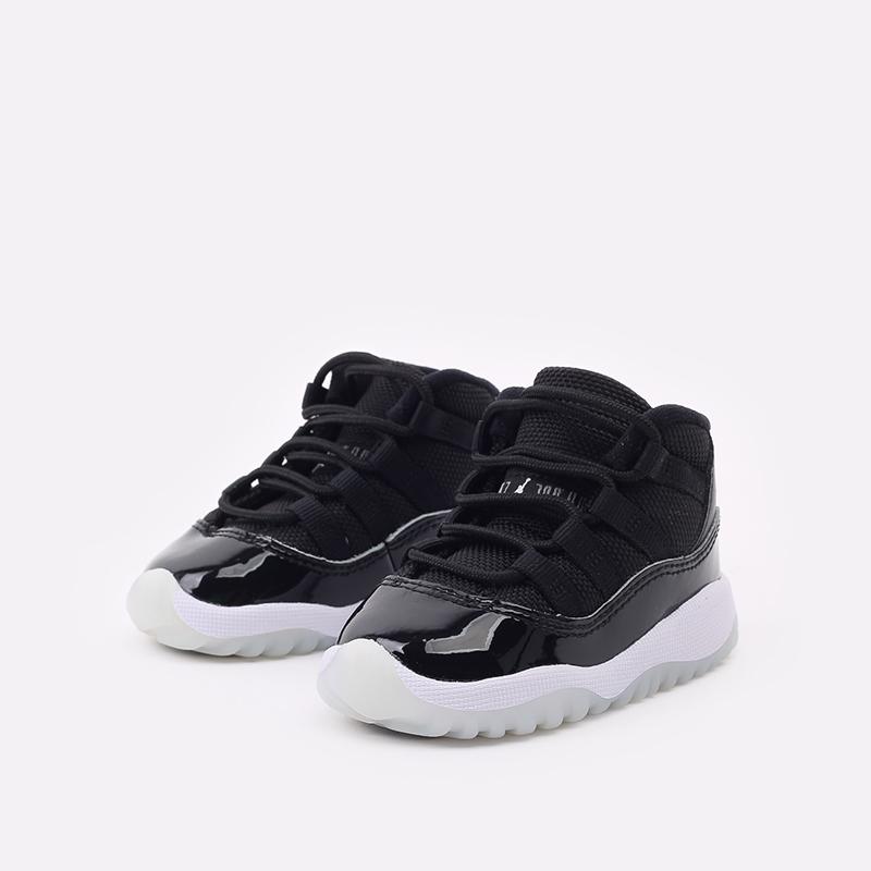 детские черные кроссовки Jordan 11 Retro (TD) 378040-011 - цена, описание, фото 2