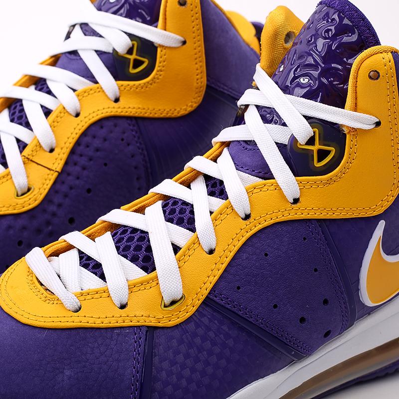 мужские фиолетовые, жёлтые  кроссовки nike lebron viii qs DC8380-500 - цена, описание, фото 4