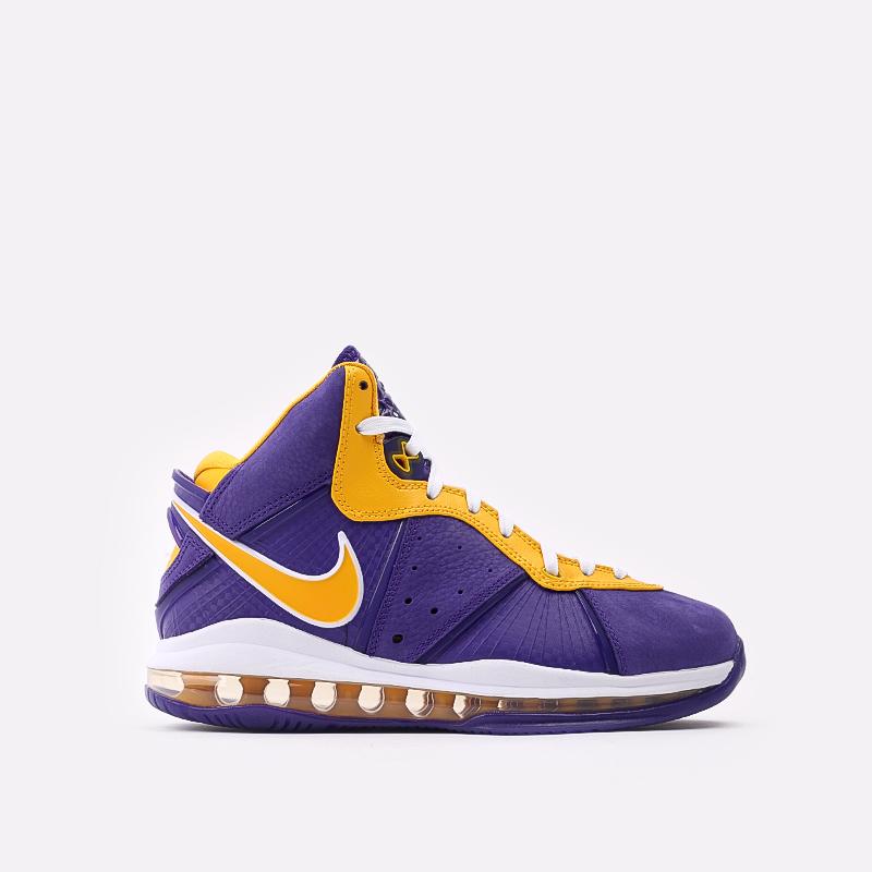 мужские фиолетовые, жёлтые  кроссовки nike lebron viii qs DC8380-500 - цена, описание, фото 1
