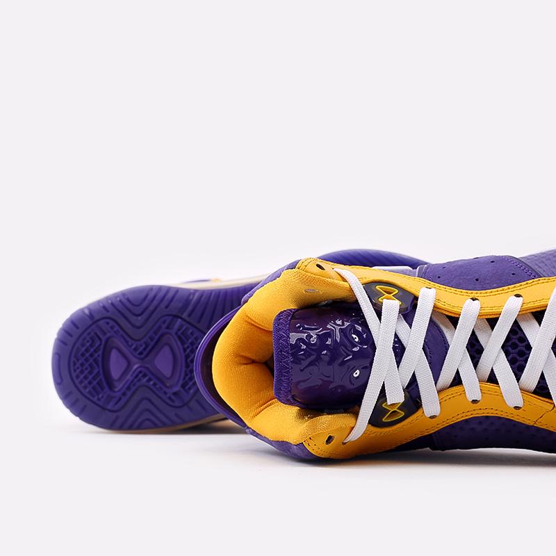мужские фиолетовые, жёлтые  кроссовки nike lebron viii qs DC8380-500 - цена, описание, фото 6