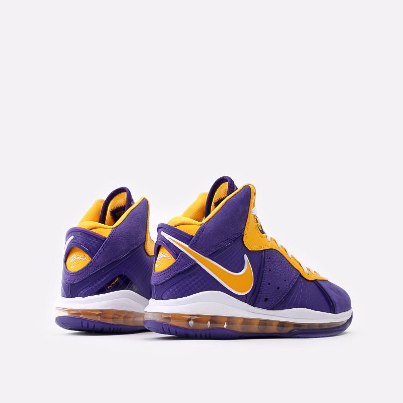 мужские фиолетовые, жёлтые  кроссовки nike lebron viii qs DC8380-500 - цена, описание, фото 3