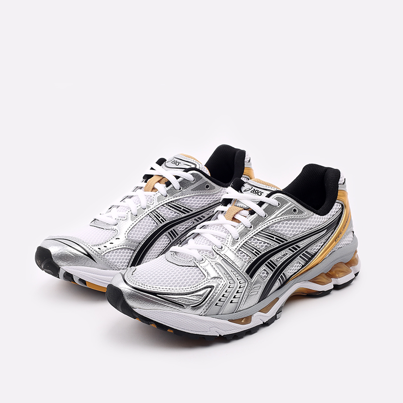 мужские белые  кроссовки asics gel-kayano 14 1201A019-102 - цена, описание, фото 2