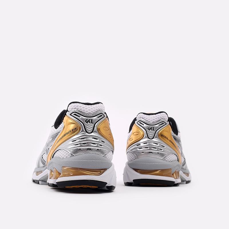 мужские белые  кроссовки asics gel-kayano 14 1201A019-102 - цена, описание, фото 3