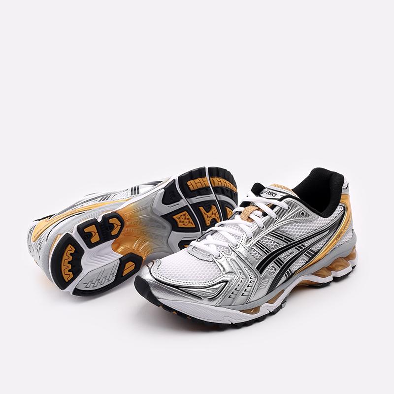 мужские белые  кроссовки asics gel-kayano 14 1201A019-102 - цена, описание, фото 4