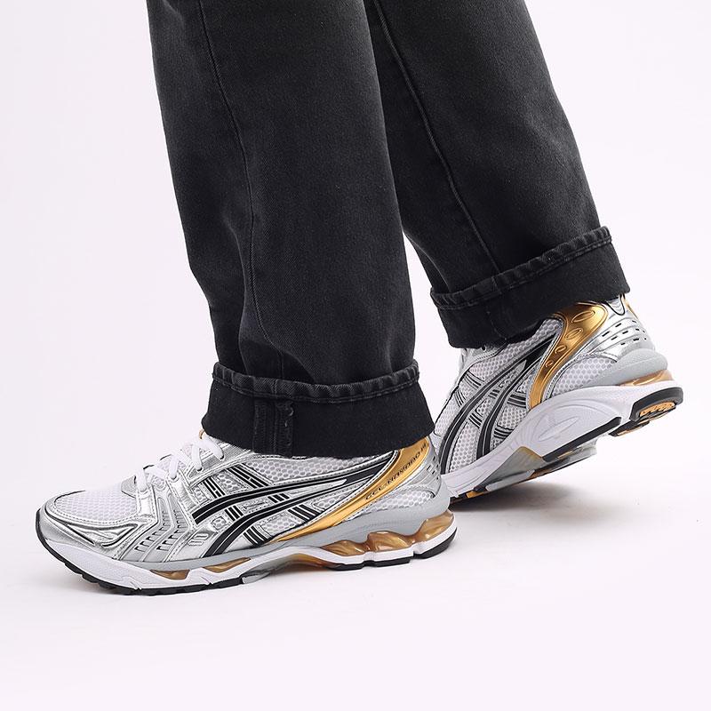 мужские белые  кроссовки asics gel-kayano 14 1201A019-102 - цена, описание, фото 8