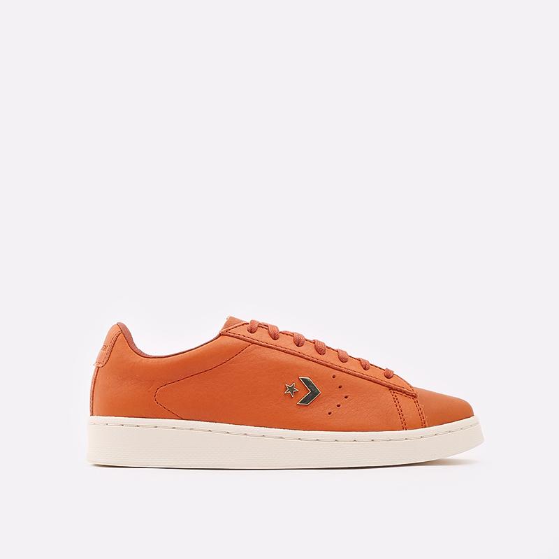 оранжевые  кеды converse pro leather ox 168853 - цена, описание, фото 1