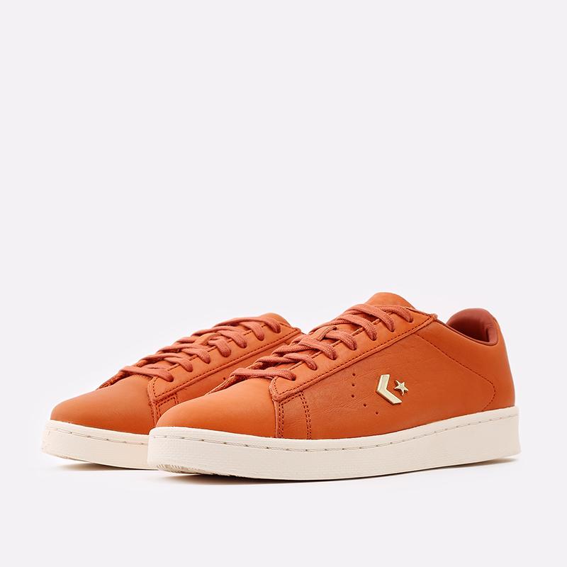 оранжевые  кеды converse pro leather ox 168853 - цена, описание, фото 2