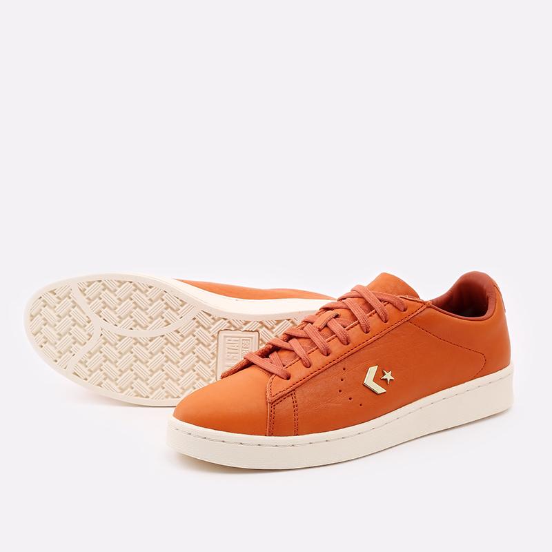 оранжевые  кеды converse pro leather ox 168853 - цена, описание, фото 3