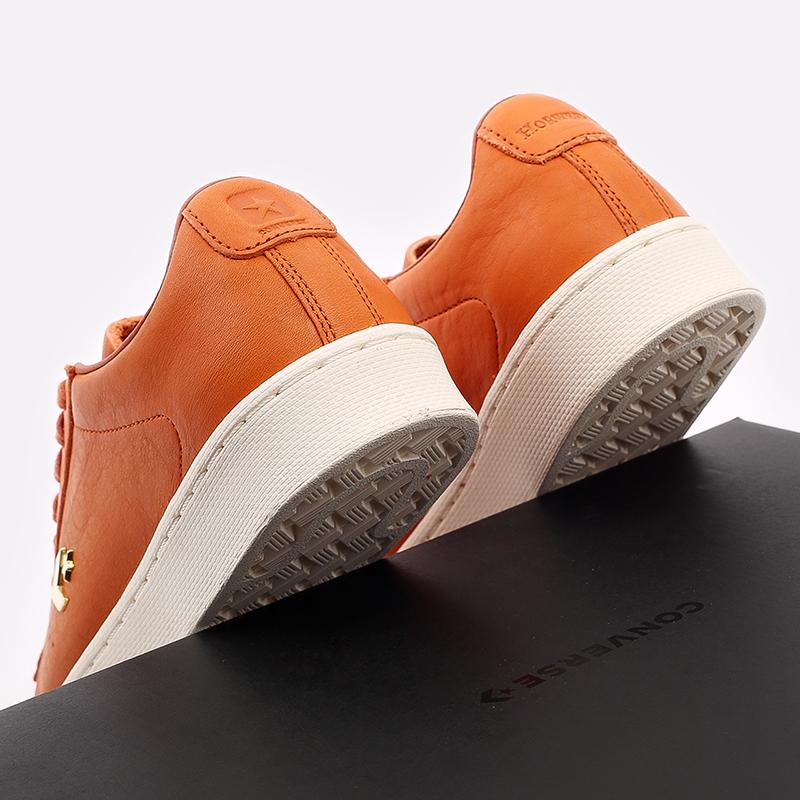 оранжевые  кеды converse pro leather ox 168853 - цена, описание, фото 5
