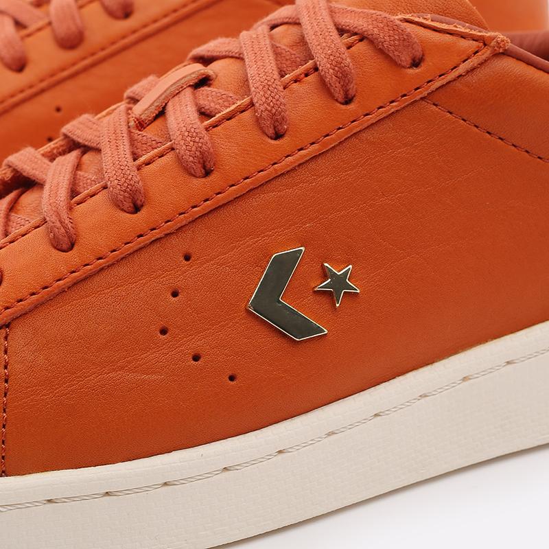 оранжевые  кеды converse pro leather ox 168853 - цена, описание, фото 7