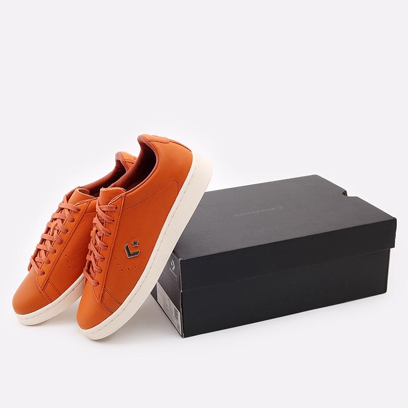 оранжевые  кеды converse pro leather ox 168853 - цена, описание, фото 4