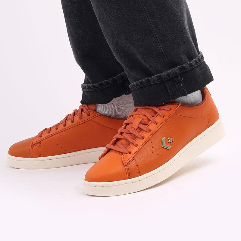 оранжевые  кеды converse pro leather ox 168853 - цена, описание, фото 8