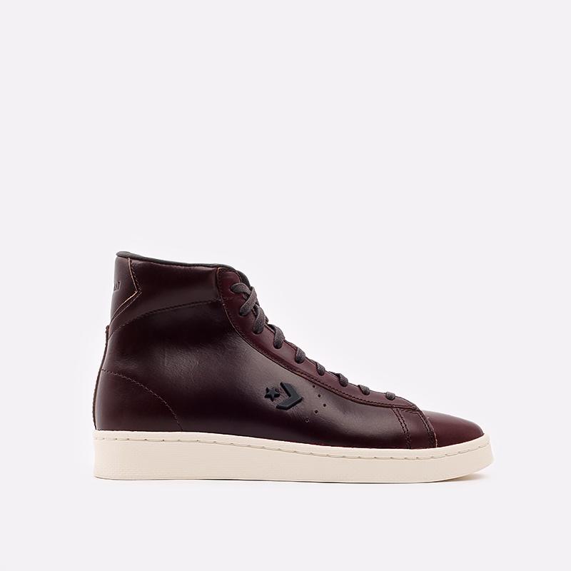 коричневые кеды Converse Pro Leather Hi 168750 - цена, описание, фото 1