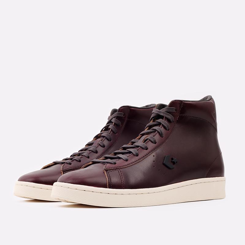 коричневые  кеды converse pro leather hi 168750 - цена, описание, фото 2