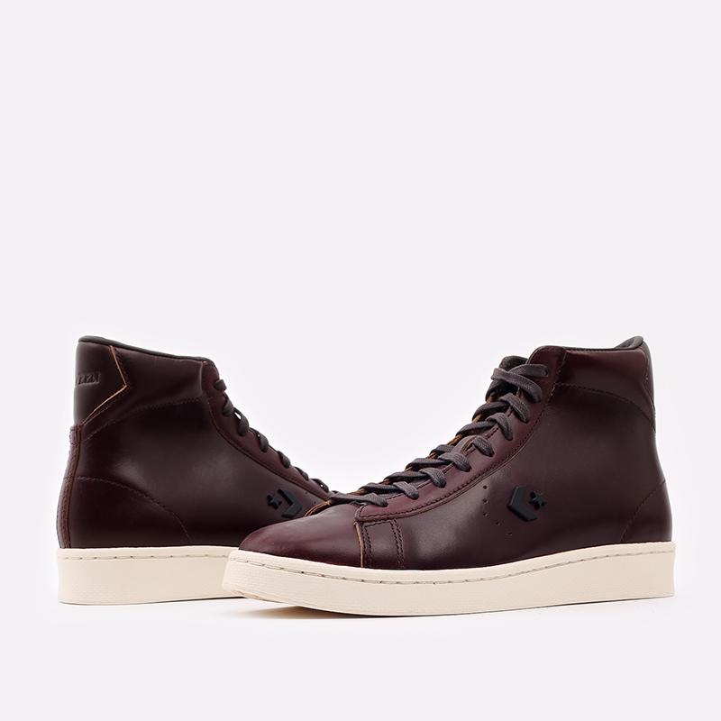 коричневые кеды Converse Pro Leather Hi 168750 - цена, описание, фото 4