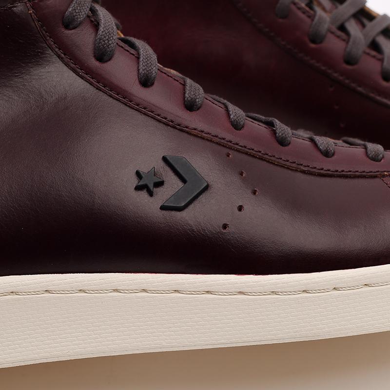 коричневые кеды Converse Pro Leather Hi 168750 - цена, описание, фото 6