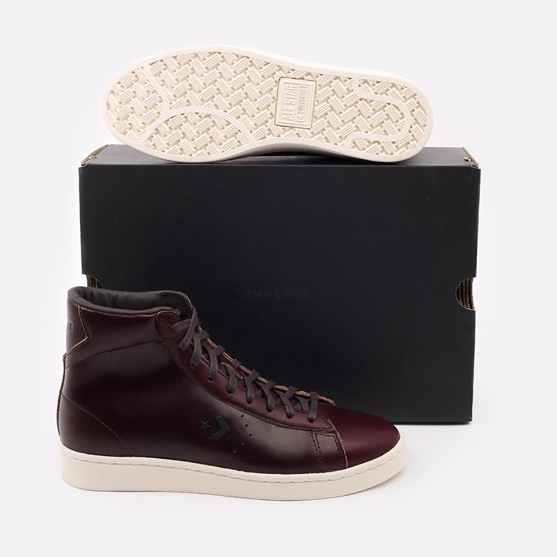 коричневые  кеды converse pro leather hi 168750 - цена, описание, фото 5