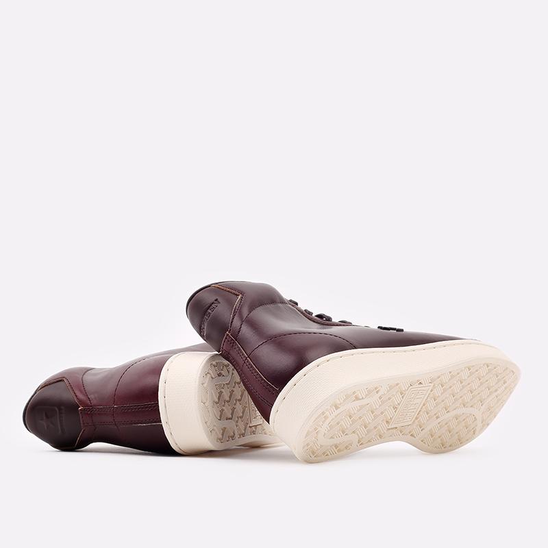 коричневые  кеды converse pro leather hi 168750 - цена, описание, фото 3