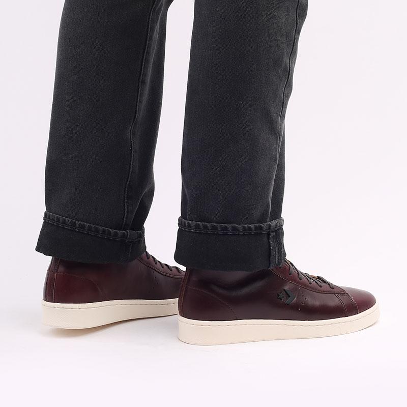 коричневые  кеды converse pro leather hi 168750 - цена, описание, фото 7