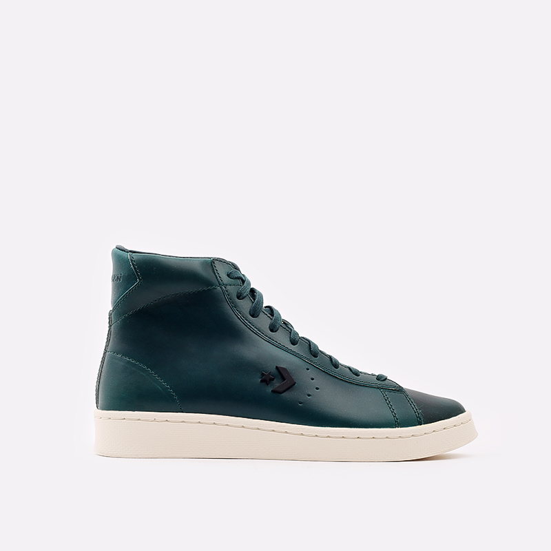 зелёные  кеды converse pro leather hi 168751 - цена, описание, фото 1
