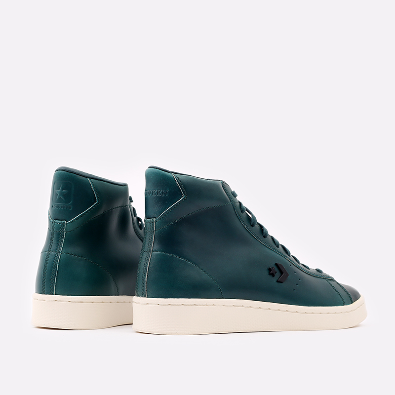 зелёные  кеды converse pro leather hi 168751 - цена, описание, фото 3
