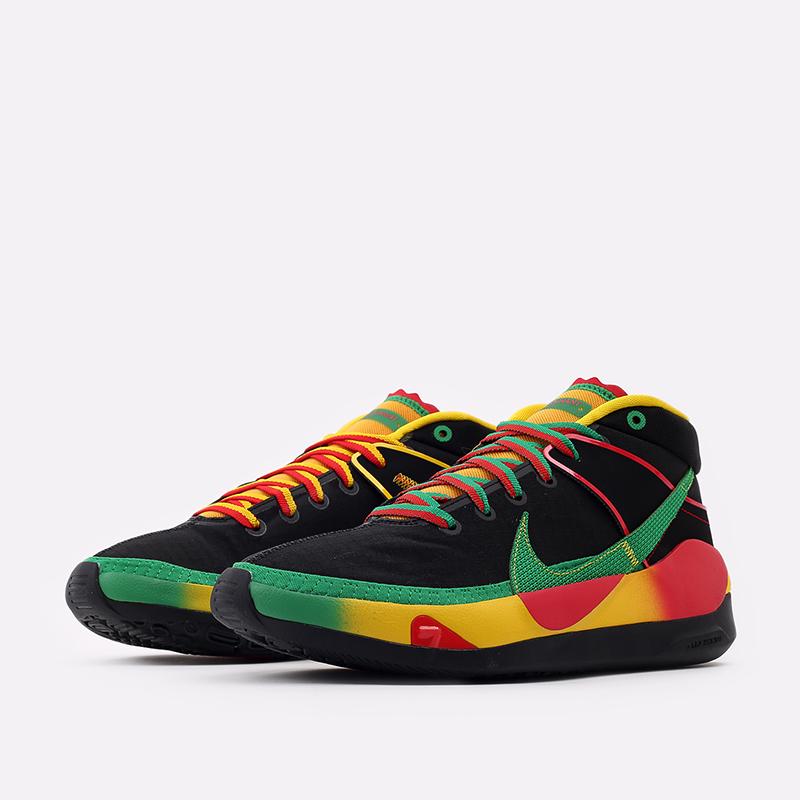 мужские чёрные  кроссовки nike kd13 DC0010-001 - цена, описание, фото 2