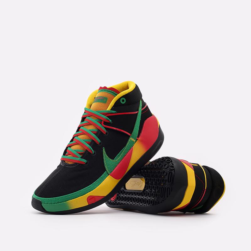 мужские чёрные  кроссовки nike kd13 DC0010-001 - цена, описание, фото 5