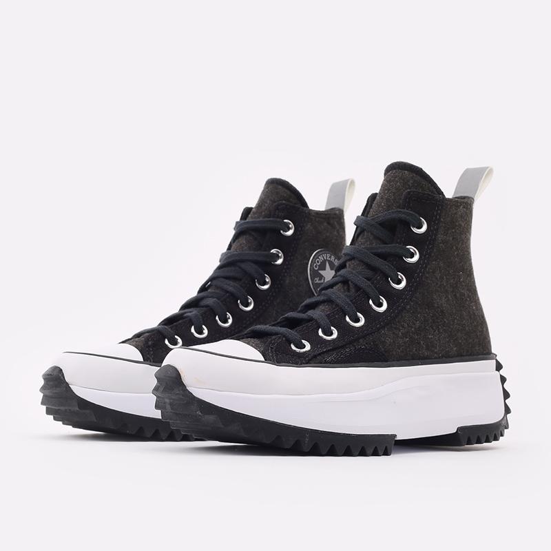 чёрные  кеды converse run star hike hi 169437 - цена, описание, фото 2