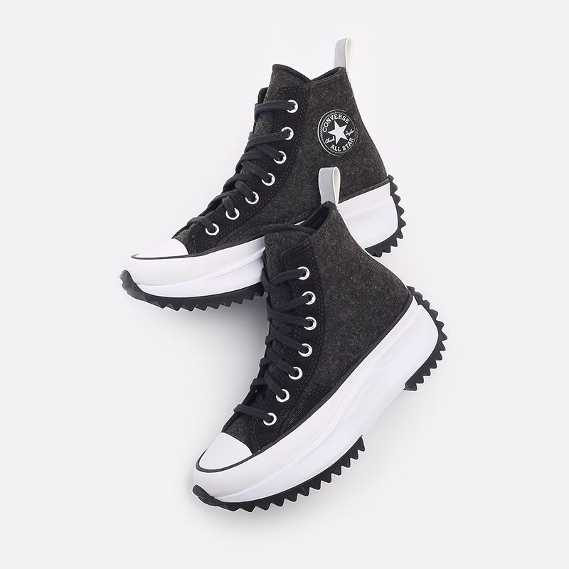 чёрные  кеды converse run star hike hi 169437 - цена, описание, фото 7