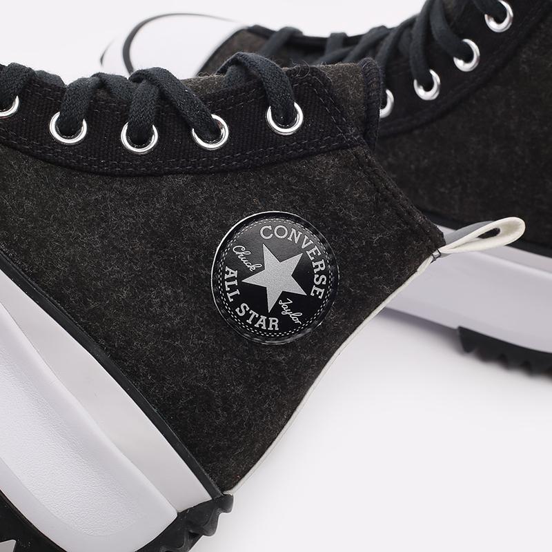 чёрные  кеды converse run star hike hi 169437 - цена, описание, фото 5