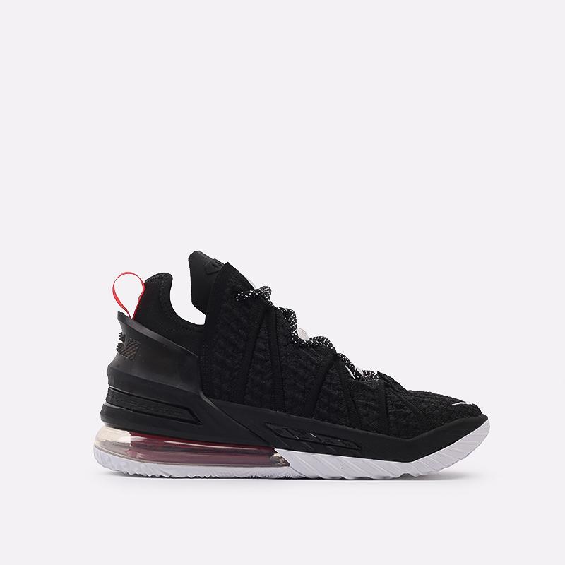 мужские чёрные  кроссовки nike lebron xviii CQ9283-001 - цена, описание, фото 1