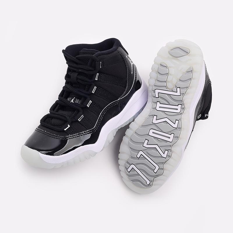 детские чёрные  кроссовки jordan 11 retro (ps) 378039-011 - цена, описание, фото 5