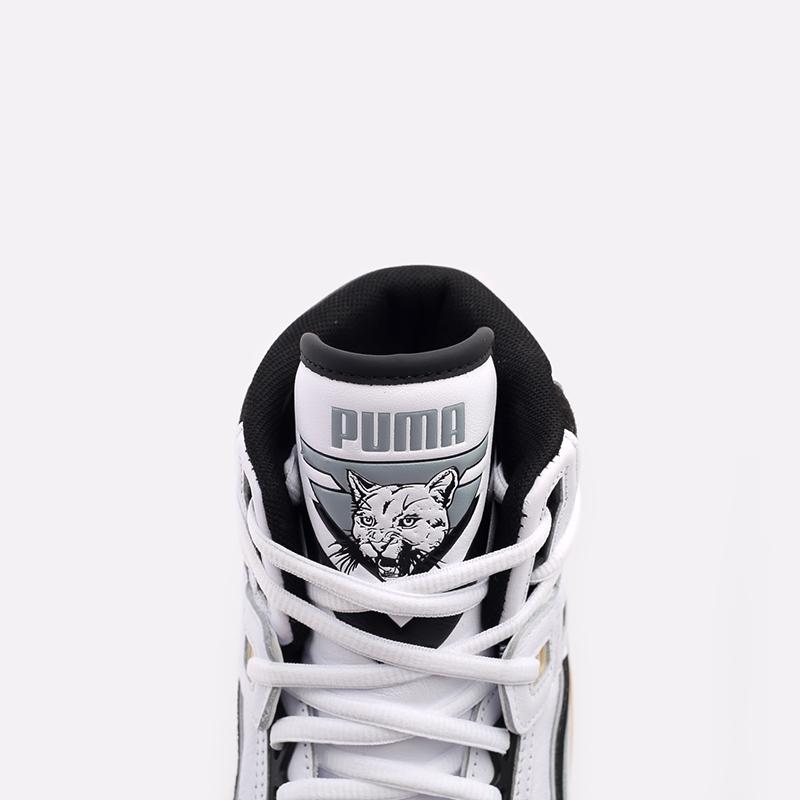 мужские белые  кроссовки puma clyde all-pro kuzma mid 19483601 - цена, описание, фото 8