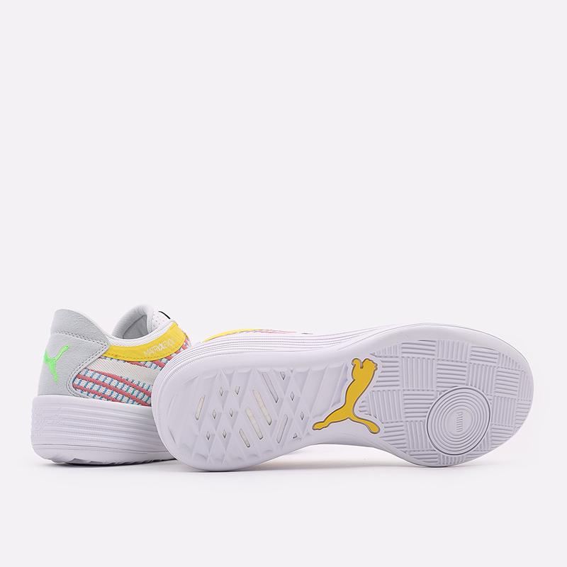 мужские белые  кроссовки puma clyde all-pro 19403901 - цена, описание, фото 3
