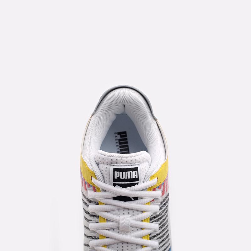 мужские белые  кроссовки puma clyde all-pro 19403901 - цена, описание, фото 5