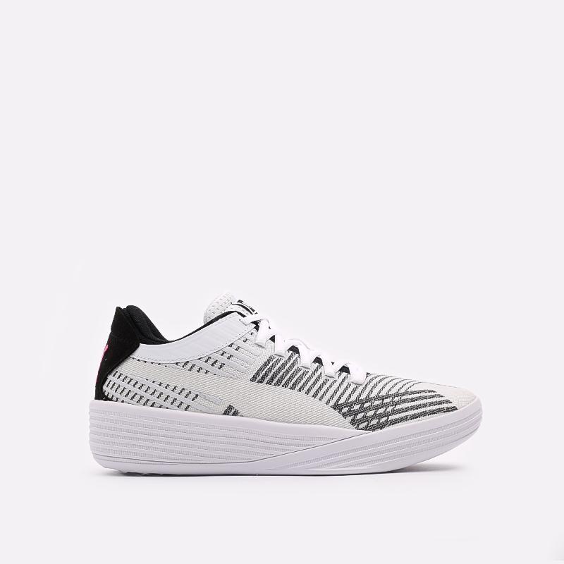 мужские белые  кроссовки puma clyde all-pro 19403903 - цена, описание, фото 1