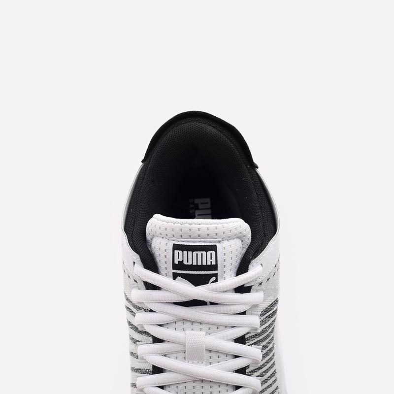 мужские белые  кроссовки puma clyde all-pro 19403903 - цена, описание, фото 5