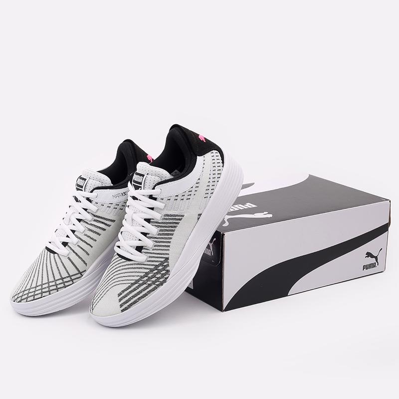 мужские белые  кроссовки puma clyde all-pro 19403903 - цена, описание, фото 4