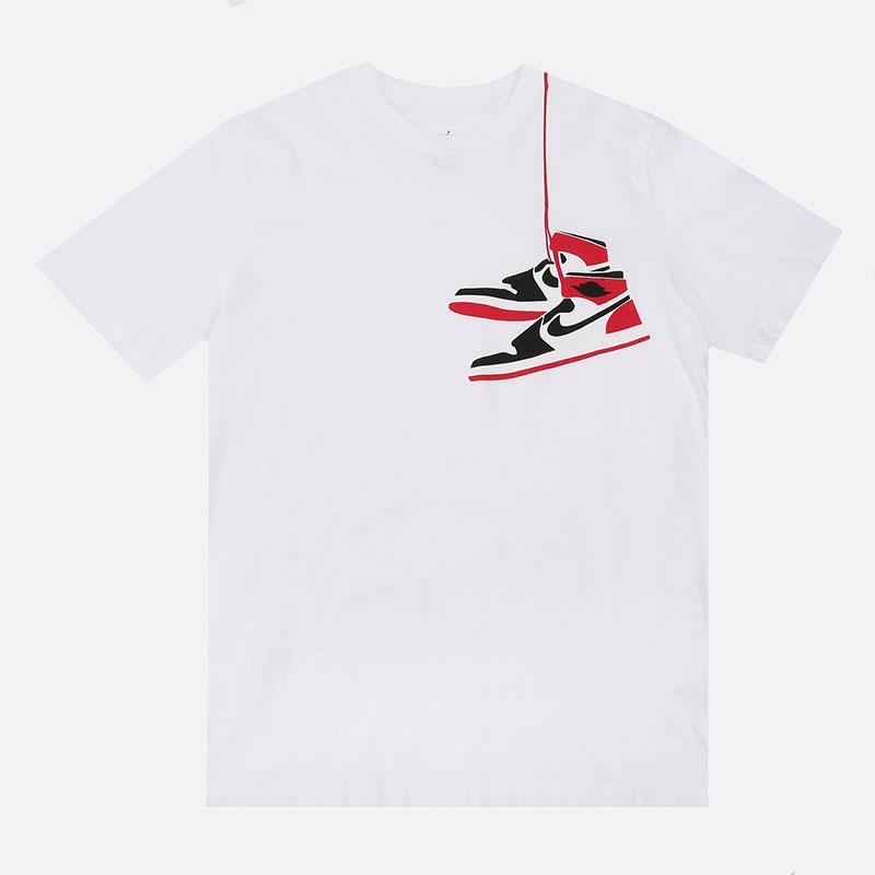 мужскую белую  футболка jordan aj1 shoe crew CZ0432-100 - цена, описание, фото 1