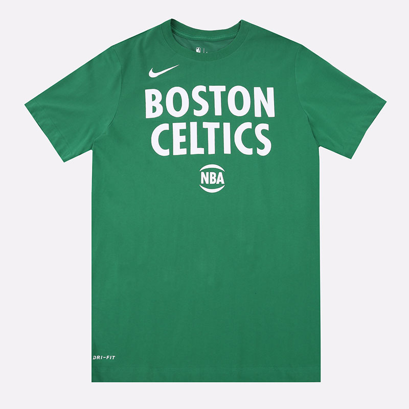 мужскую зеленую  футболка nike nba dri-fit boston celtics logo tee CT9438-312 - цена, описание, фото 1
