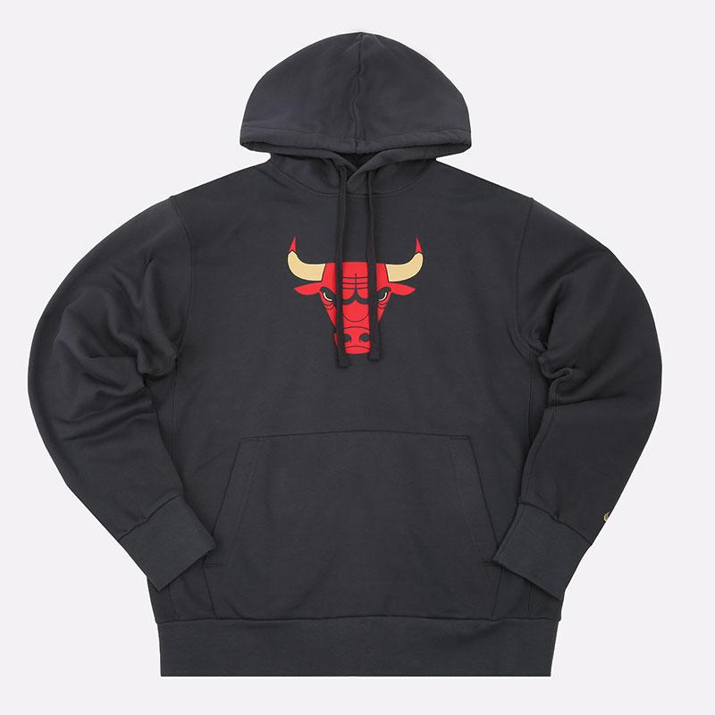 мужскую серую  толстовка nike nba chicago bulls city edition logo hoodie CN2534-060 - цена, описание, фото 1