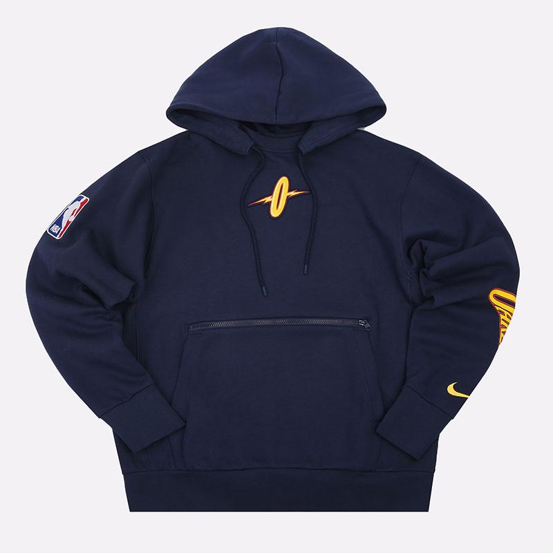 мужскую синюю  толстовка nike golden state warriors city edition courtside nba pullover hoodie CN1810-419 - цена, описание, фото 1
